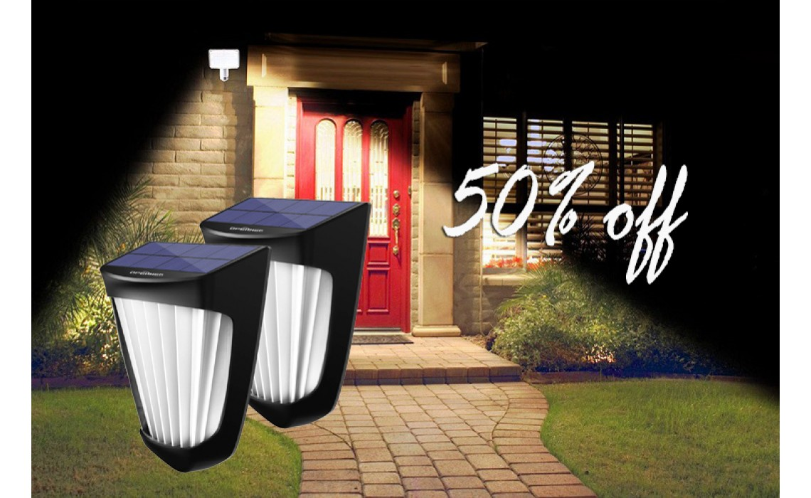 You can save 50% off on these solar fence lights at Amazon