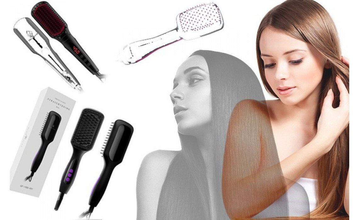 2019 TOP 3 hair straightening brush easy your busy morning