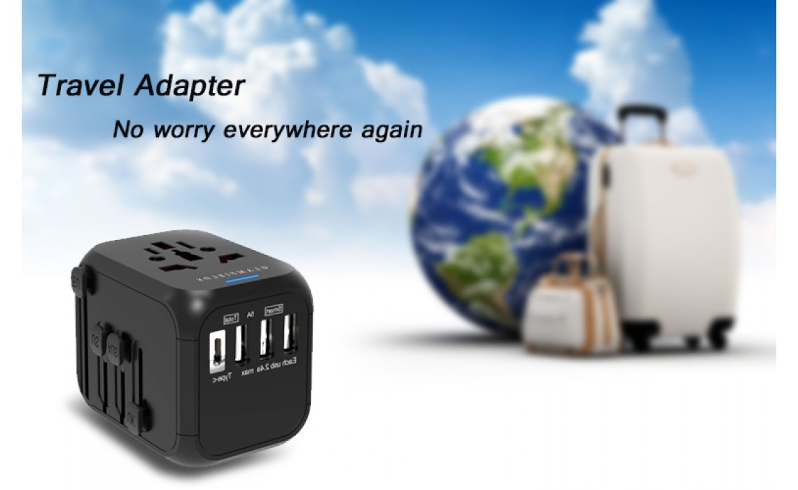 How does universal travel adapter converter work?