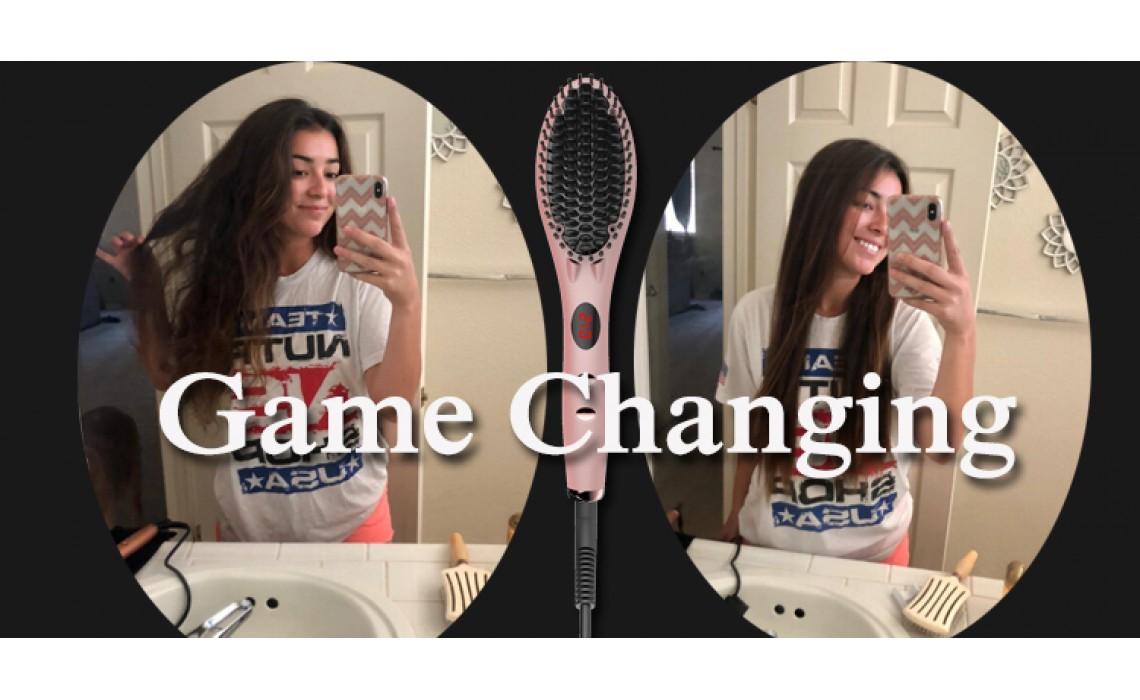 Q&A about Glamfields hair straightening iron brush