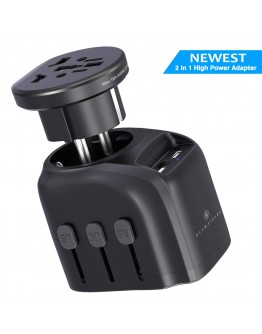 GLAMFIELDS  Universal Travel Adapter 2-in-1